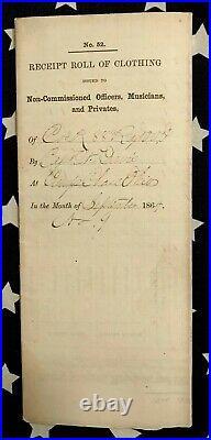 Outstanding Original Camp Chase Ohio Confederate Prison CIVIL War Document 88th