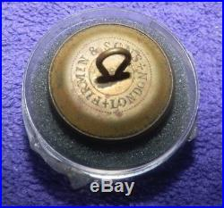 POST CIVIL WAR CONFEDERATE STATES NAVY BUTTON-Firmin and Sons, London