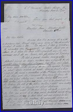 Pair of 1861 Confederate Civil War Letters MORGAN RANGERS, 1st Louisiana Cavalry