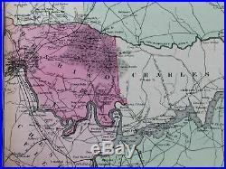Peninsular Campaign Richmond Virginia Union Confederate army 1867 Civil War map