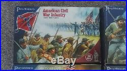 Perry Miniatures American Civil War Confederate army in boxes unmade