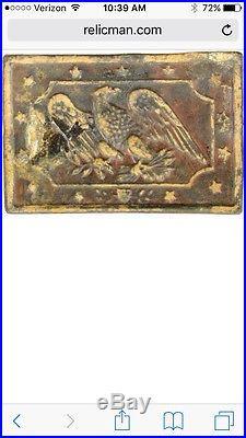 Pre Civil War Belt Buckle Militia Plate Relic Confederate 1850's