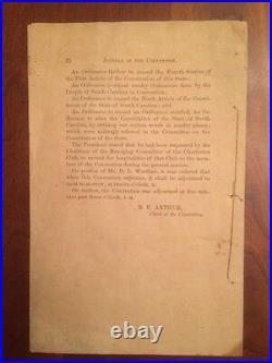RARE 1861 South Carolina Secession Convention, Charleston, Civil War Confederate