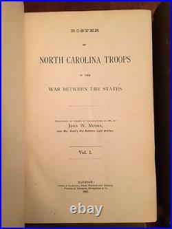 RARE 1882 Roster North Carolina Troops, Civil War, Confederate 4-Volume Set, CSA