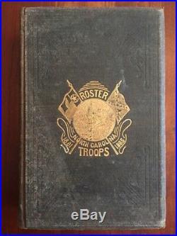 RARE 1882 Roster North Carolina Troops, Civil War Confederate CSA 37th-62nd Regt