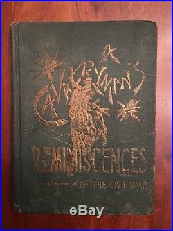 RARE Cavalryman's Reminiscences Civil War, 1st Louisiana Confederate Cavalry CSA
