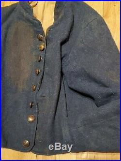 RARE Civil War Confederate Cavalry Shell Jacket Infantry Waterbury Buttons FINE