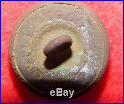 RARE Excavated Civil War Confederate Mobile Volunteer Corp Alabama Kepi Button
