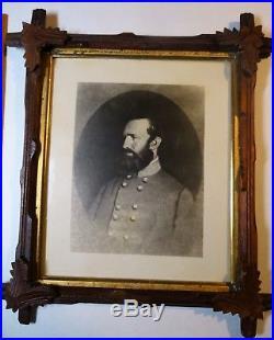 RARE Lg Framed Photo Civil War Confederate General Stonewall Jackson ca 1870