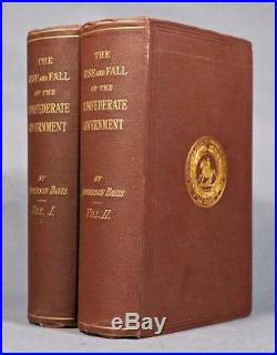 Rare 1881 1stED The Rise And Fall Of The CONFEDERATE GOVERNMENT Civil War Fine