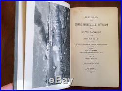 Rare 1st ed North Carolina Confederate Civil War History Regiments, Walter Clark