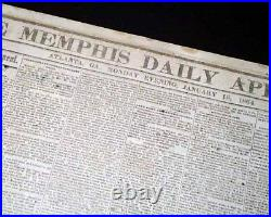 Rare ATLANTA GA Georgia CONFEDERATE Memphis TN Civil War 1864 Old Newspaper