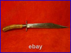 Rare CIVIL War Confederate Made 13 1/2 Clipped Point Bowie Side Knife