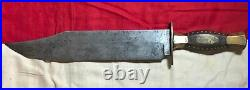 Rare! CIVIL War Confederate Presentation Bowie Knife Dagger General John B Hood