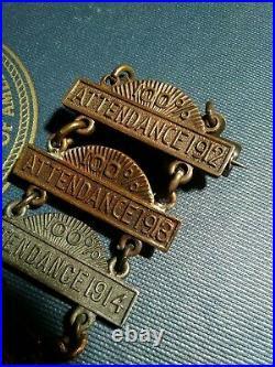 Rare CIVIL War Confederate Reunion Medal Brunswick Rifleman Georgia 1860