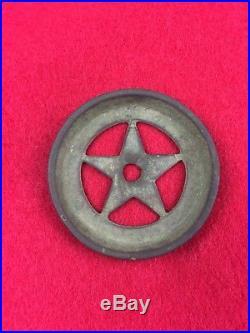Rare CIVIL War Confederate Texas Star Horse Bridle Rosette Or Martingale