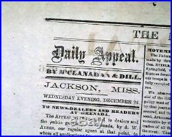 Rare CONFEDERATE Battle of Fredericksburg Union Defeat 1862 Civil War Newspaper