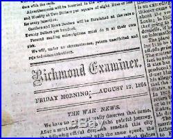 Rare CONFEDERATE Capital Battle of Mobile Bay Alabama 1864 Civil War Newspaper