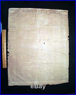 Rare CONFEDERATE Lee to Gettysburg & Stonewall Jackson Death 1863 Civil War News