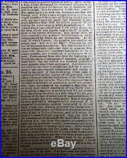 Rare CONFEDERATE Memphis TN Tennessee in JACKSON MS Civil War 1862 Old Newspaper