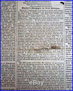 Rare CONFEDERATE Memphis TN Tennessee in JACKSON MS Civil War 1863 Old Newspaper