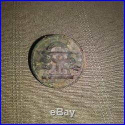 Rare Civil War Confederate Georgia militia coat button found at Resaca Georgia