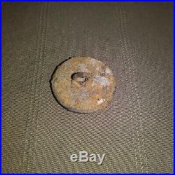 Rare Civil War Confederate Georgia state militia button from Resaca Georgia