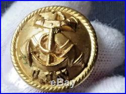 Rare Civil War Confederate States Navy Button Morry Luxenburg London App 24,5mm