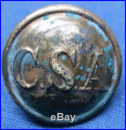 Rare Confederate Civil War CSA button, wartime production #1