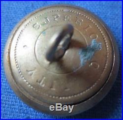 Rare Confederate Civil War CSA coat button, wartime production, near MINT #4