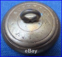 Rare Confederate Civil War CSA coat button, wartime production, near MINT #5