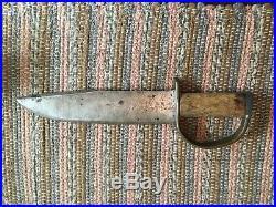 Rare Confederate Civil War D Guard Bowie Knife Indentified Winchester VIrginia