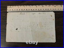 Rare Confederate Document Civil War Deserters 54th NC Regiment Bunker Hill, WV