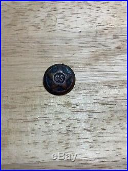 Rare Confederate Original Texas Star CIVIL War C. S Coat Button