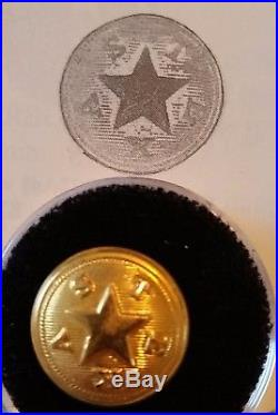 Rare Cuff Texas! Extra Quality, CIVIL War Confederate Button