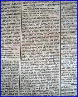 Rare FIRST BATTLE OF BULL RUN Manassas VA Civil War CONFEDERATE 1861 Newspaper
