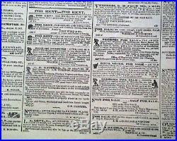 Rare NEW ORLEANS LA Louisiana Deep South CONFEDERATE Civil War 1861 Newspaper
