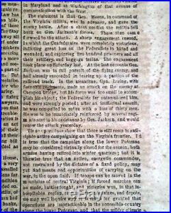 Rare NEW ORLEANS LA Louisiana Deep South CONFEDERATE Civil War 1862 Newspaper