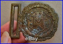 Rare Original Civil War Antique Confederate Marine Corps Brass Belt Buckle