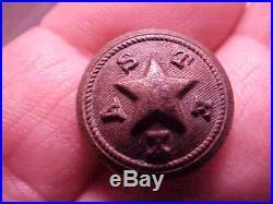 Rare Original Texas CIVIL War Button Confederate