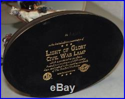Rare! Scarce! Vtg BRADFORD EXCHANGE Light Of Glory CIVIL WAR LAMP Confederate
