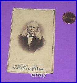 Real Civil War E & H. T. Anthony Edmund Ruffin card Confederate fired 1st shot