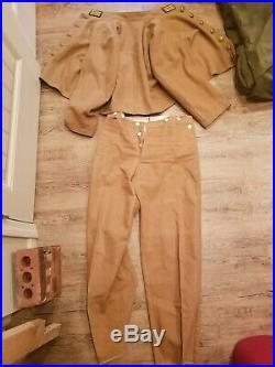 Reproduction Civil War Confederate Butternut Shell Jacket And Matching Canvas