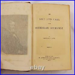 Rise Fall Confederate Government Jefferson Davis 1881 First Ed Civil War Signed