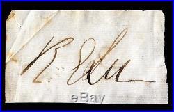 Robert E. Lee (1807-1870) Civil War Confederate General Cut Autograph, Signature