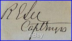 Robert E. Lee (1807-70) Signed Autograph Confederate Civil War General Commander