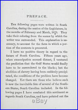 SC UNDER AFRICAN AMERICAN GOVERNMENT Confederate BLACK HISTORY Slavery CIVIL WAR