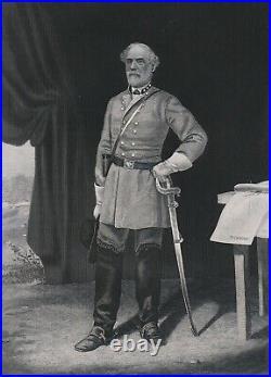 SUPER ORIGINAL 1865 Civil War Print Confederate General Robert E Lee CSA sword