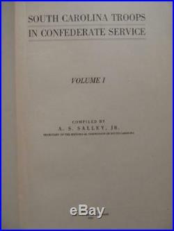 South Carolina Troops In Confederate Service First Edition 1913 CIVIL War