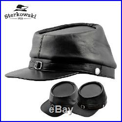 Sterkowski BUFFALO Leather Kepi Cap Replica History Confederate Civil War